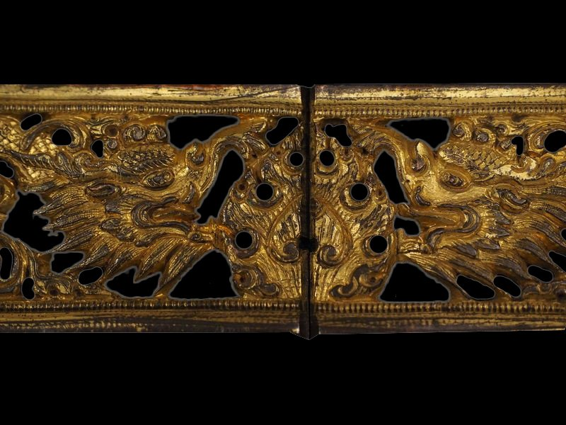 Sino-Tibetan Gilded Iron Plaques- Seven Flaming Jewels of Royal Power