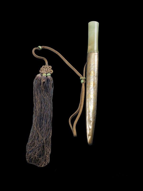Jade handle  Buddhist Sino-Tibetan Dagger